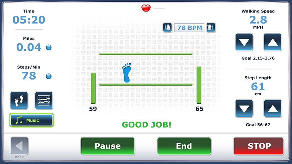 Sample Screens - - Gait Trainer - Physical Medicine   Biodex