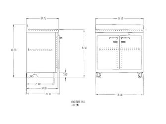 Lead-Lined Preparation Enclosure Base Cabinet