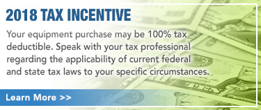 Your equipment purchase may be 100% tax deductible.